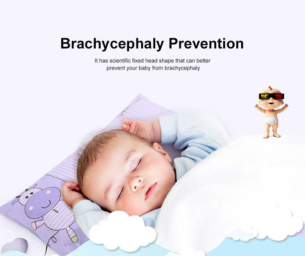 Cute Pattern New Born Baby Pillow Rectangle Plagiocephaly Prevention Breathable Soft Pillow 4