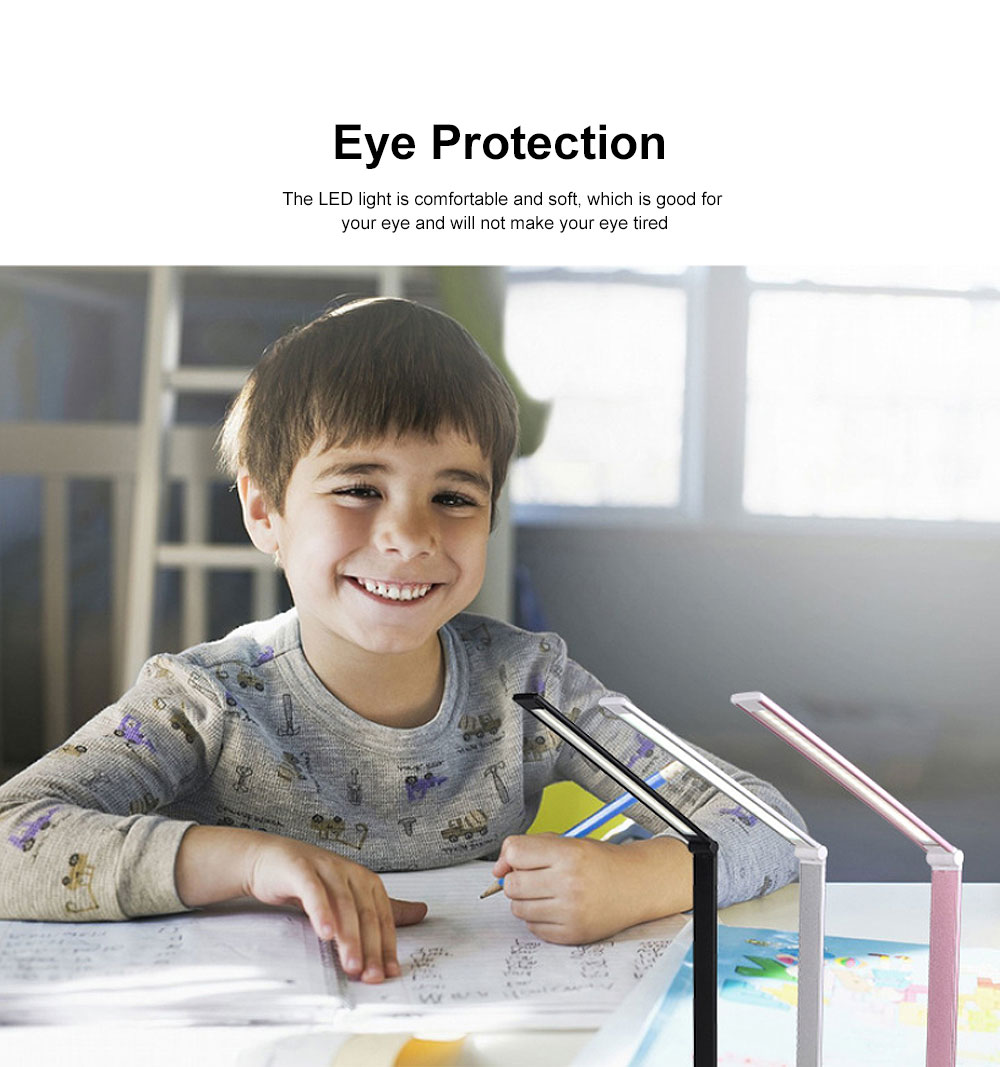 Eye Protection Desk Lamp LED Soft Light 5 Gears Adjustment Time Setting Function Minimalist Table Lamp 5