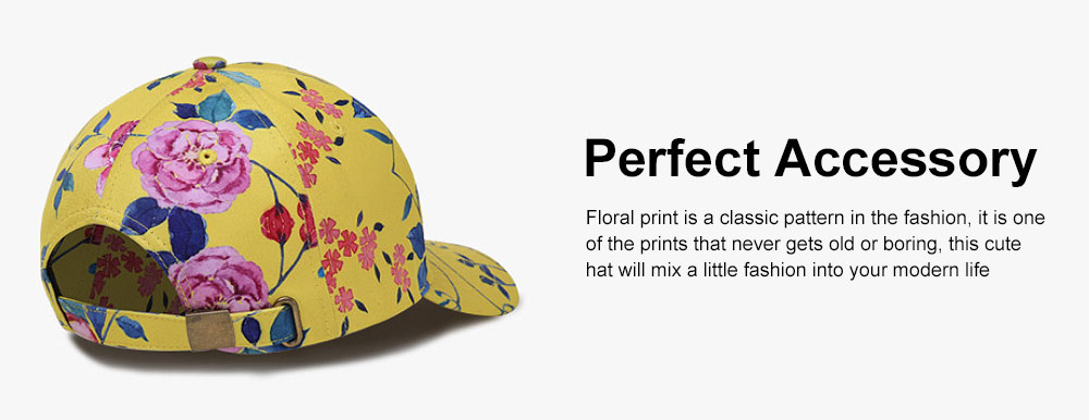 Summer Floral Printed Pattern Baseball Cap Fashionable Casual Outdoor Sun Cap with Hip Pop Style 5