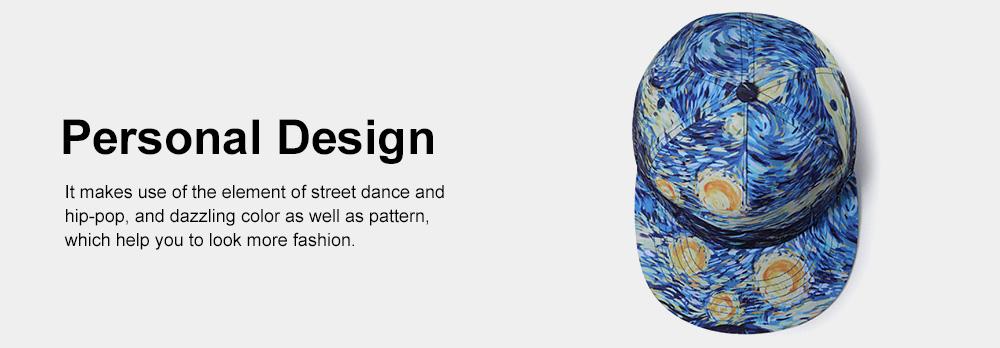 Flat-brimmed Baseball Cap, Street Dance & Hip-pop Cap, 3D-printed Cap for Male & Female 5