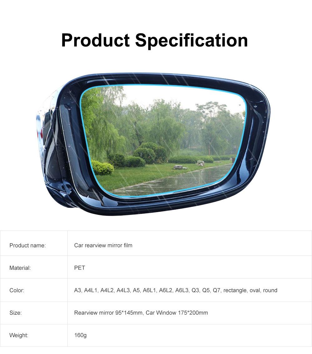 Car Rearview Mirror Protective Film Waterproof Film Anti-Fog HD Anti-Glare Clear Protective Film for Audi A3 A4L A5 A6L Q3 Q5 Q7 6