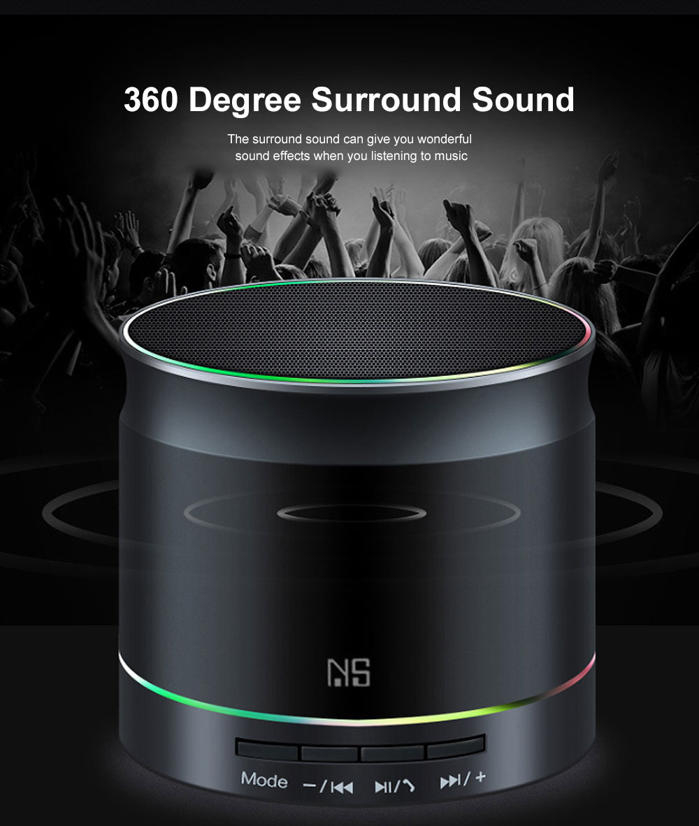 Support TF Card Bluetooth Speaker Mini Portable Wireless Speaker with Stable 4.2 Bluetooth Connection Hands Free Call 3