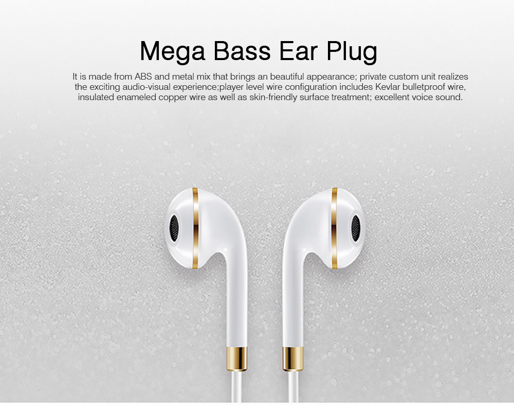 Mega Bass Earphones Universal Use for iPhone Android Computer In Ear Earphones With Mic 0