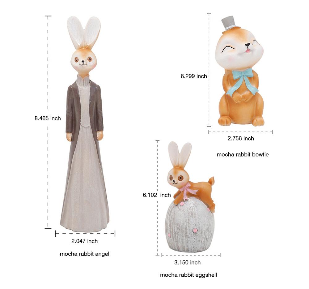 Mocha Rabbit Decorations for Home Creative Cartoon Resin-made Mocha Rabbit Lovely Decoration 7