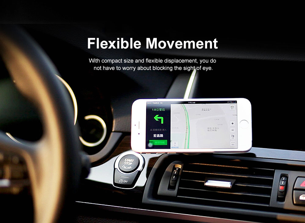 ROCK Phone Holder for Car, Multi-functional Osculum Type Phone Holder for Iphone, Huawei, MIUI 3