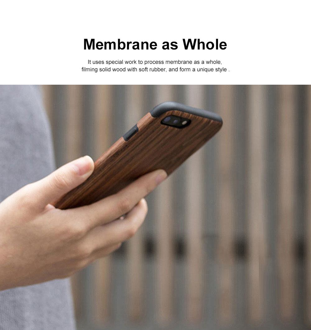 Silicone Anti-fall Phone Case, Fashion Original Phone Case, Wood-made Phone Case for iPhone XS Max, X, XS, 7 Plus, 8 Plus, 7, 8, 6, 6s, XR 3