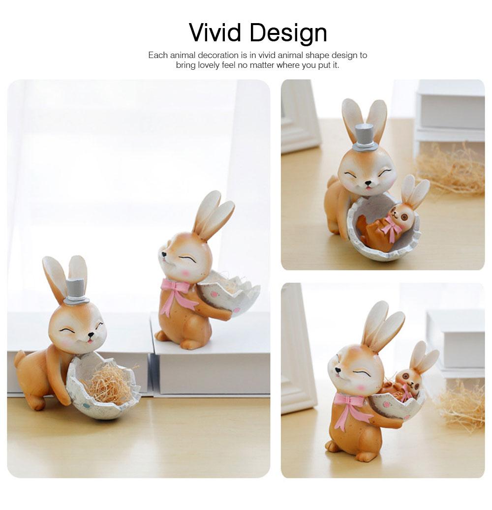Mocha Rabbit Decorations for Home Creative Cartoon Resin-made Mocha Rabbit Lovely Decoration 2