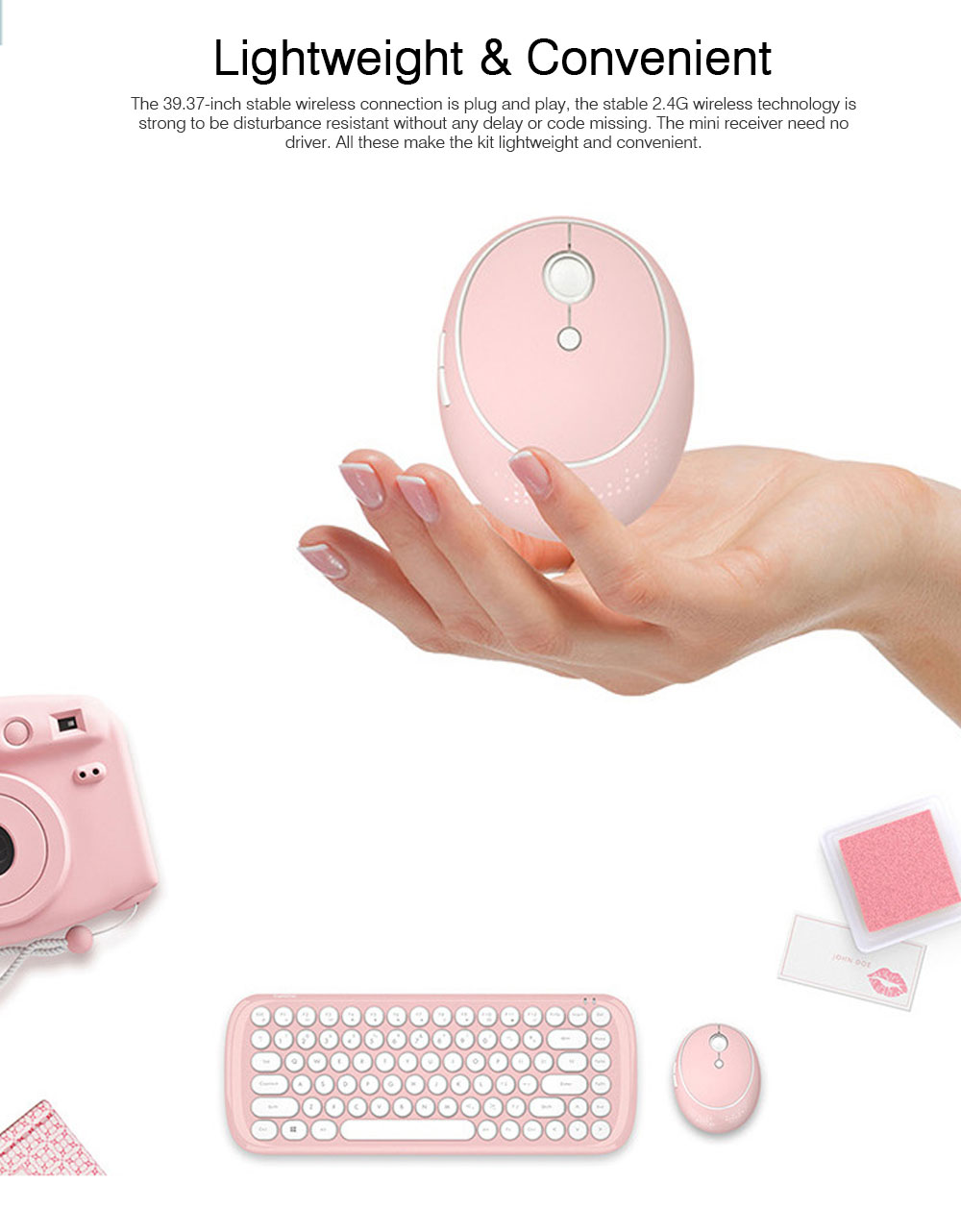 Mechanical Keyboard Kit for Computer Game Mini Keyboard Kit Mini Mouse Kit for Laptop Wireless Keyboard & Mouse Kit  3