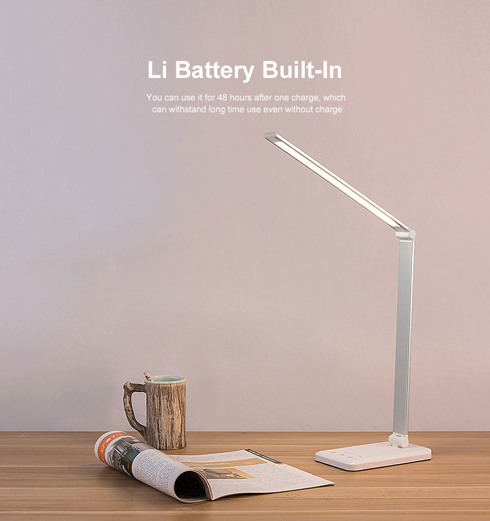 Eye Protection Desk Lamp LED Soft Light 5 Gears Adjustment Time Setting Function Minimalist Table Lamp 1