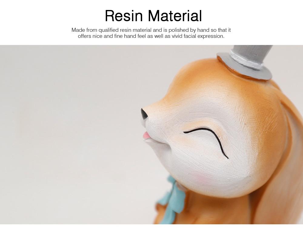 Mocha Rabbit Decorations for Home Creative Cartoon Resin-made Mocha Rabbit Lovely Decoration 1