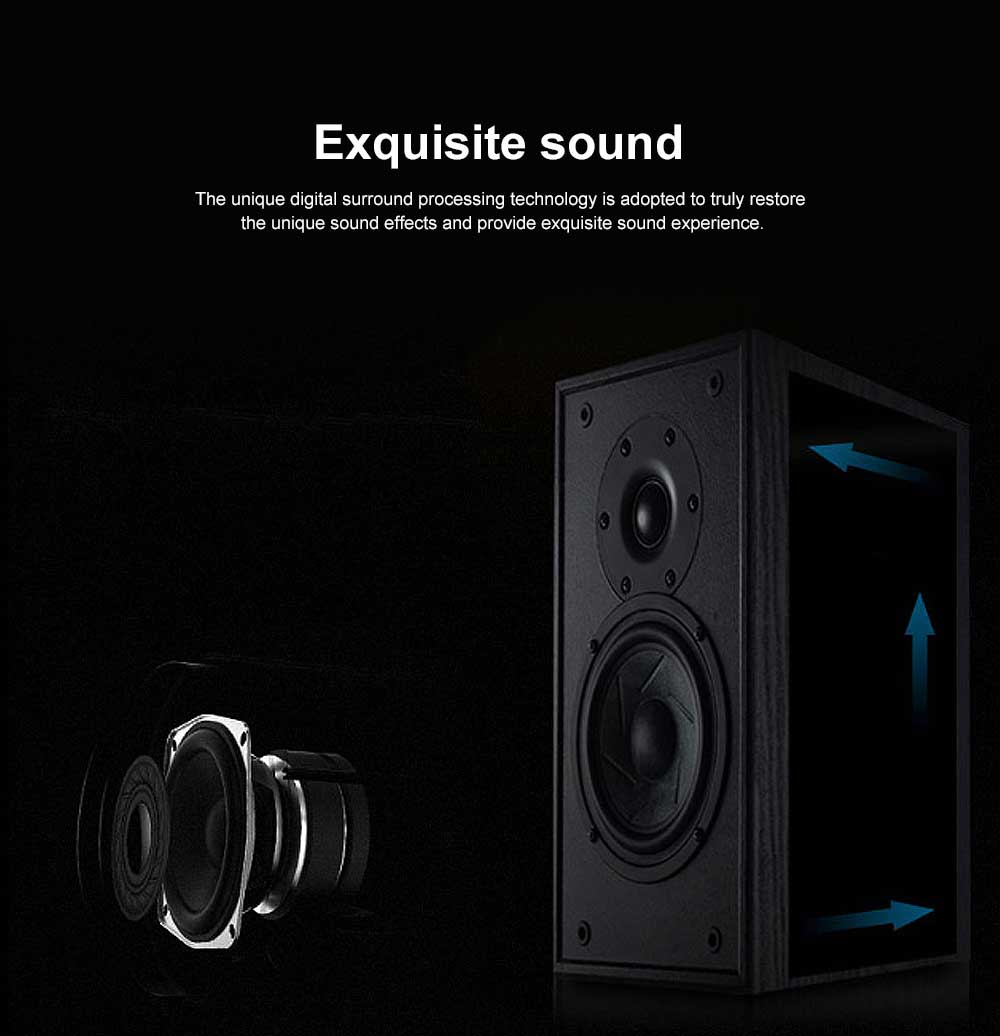 Bluetooth Subwoofer Household Mini Sound Box, Portable Wireless Bluetooth Speaker Sound Box Support TF Card AUX MP3 Wav APE Flac 3
