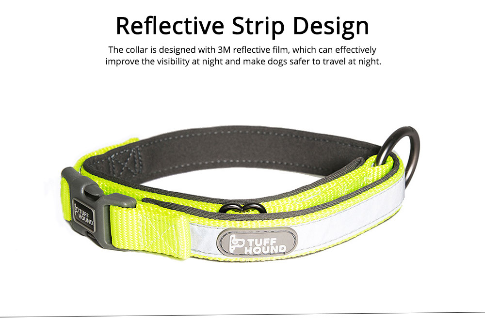 Nylon Reflect Light Pet Dog Collar Adjustable Necklace Collar for Dog Supplies Pet Dog Buckle Neck Strap 2