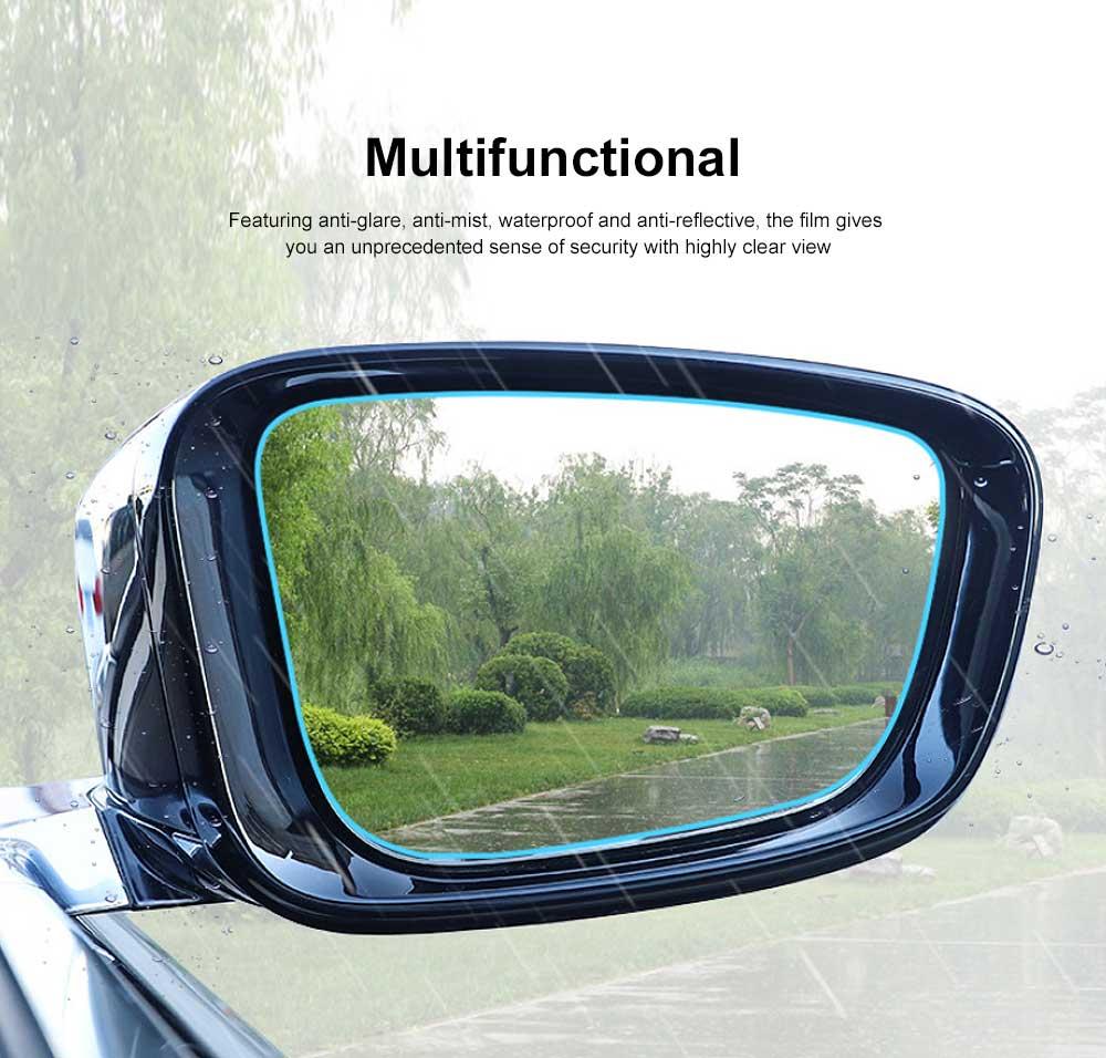 Car Rearview Mirror Protective Film Waterproof Film Anti-Fog HD Anti-Glare Clear Protective Film for Audi A3 A4L A5 A6L Q3 Q5 Q7 4