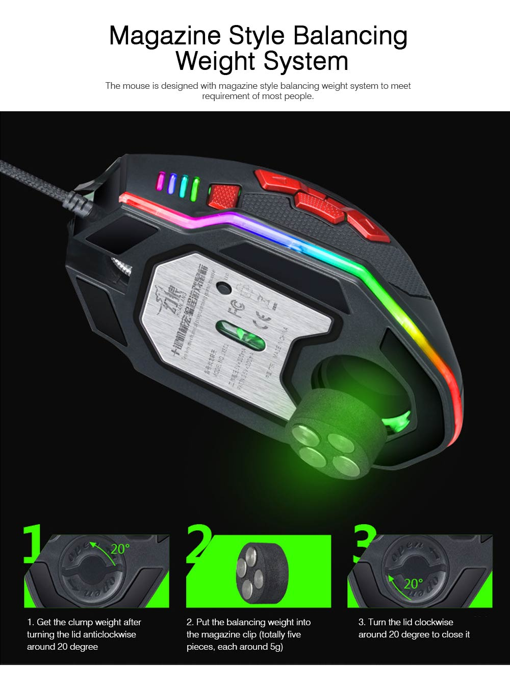 Mechanical Mouse for PUBG Game Optical Mouse Wireless Opto-mechanical Mouse Wired Mouse 5