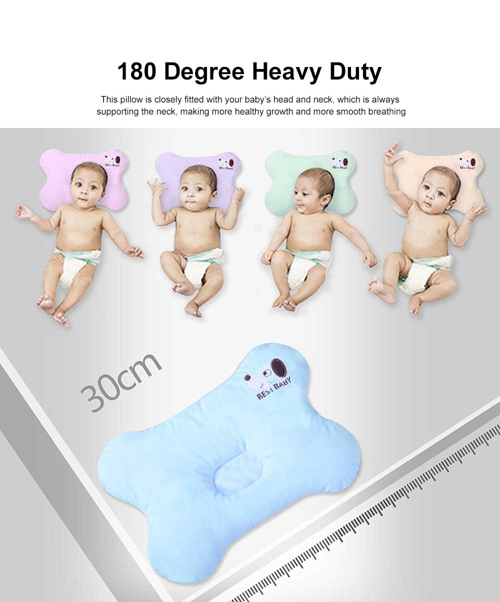 Baby Super Soft Pillow Rectangle Fixed Shape New-Born Baby Pillow Neck Head Protection 5