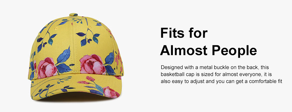 Summer Floral Printed Pattern Baseball Cap Fashionable Casual Outdoor Sun Cap with Hip Pop Style 3