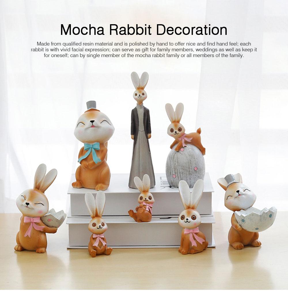 Mocha Rabbit Decorations for Home Creative Cartoon Resin-made Mocha Rabbit Lovely Decoration 0
