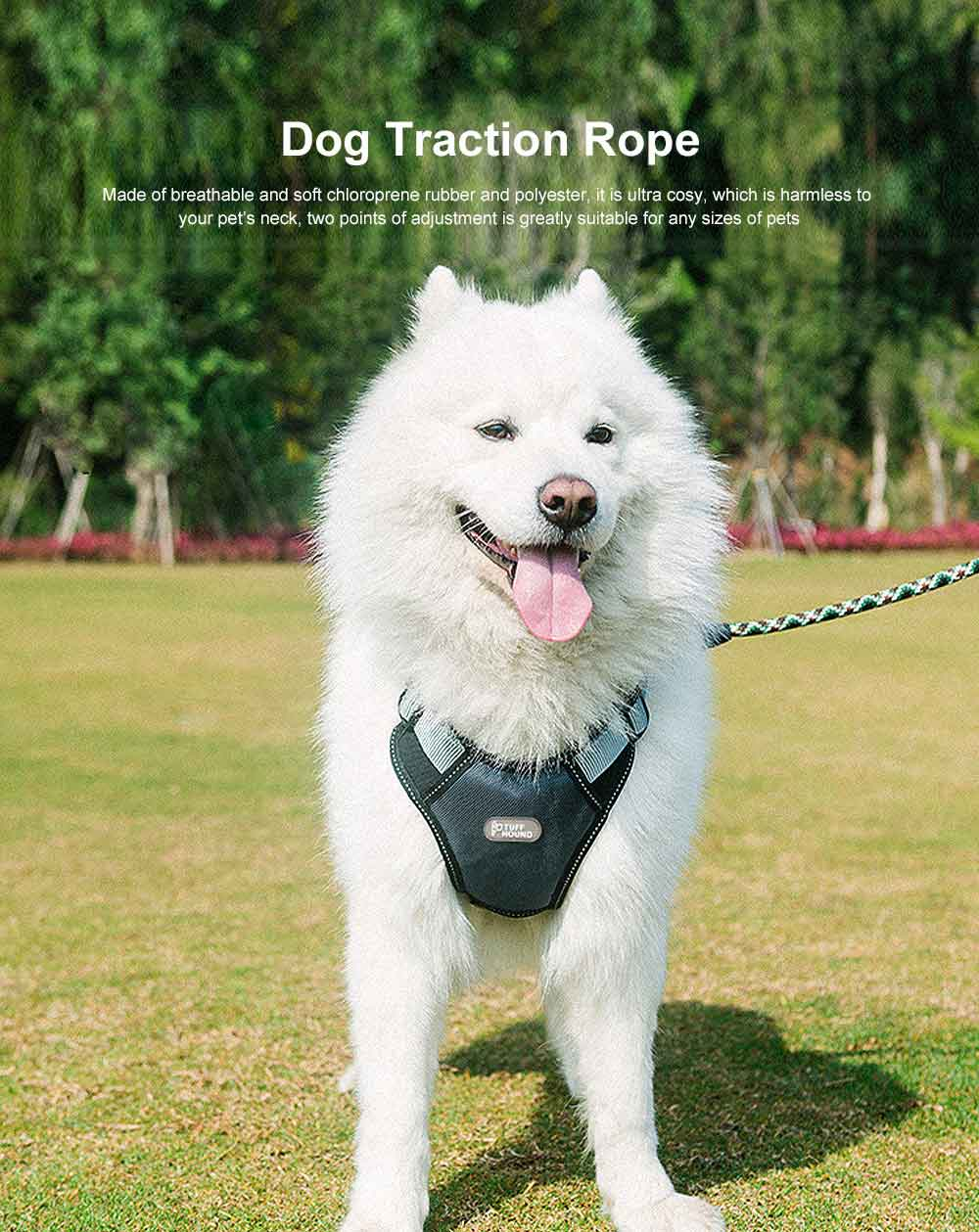 Dog Traction Rope Pet Hardness Chain Medium Large Dog Rope Adjustable Safety Travel Chain 0