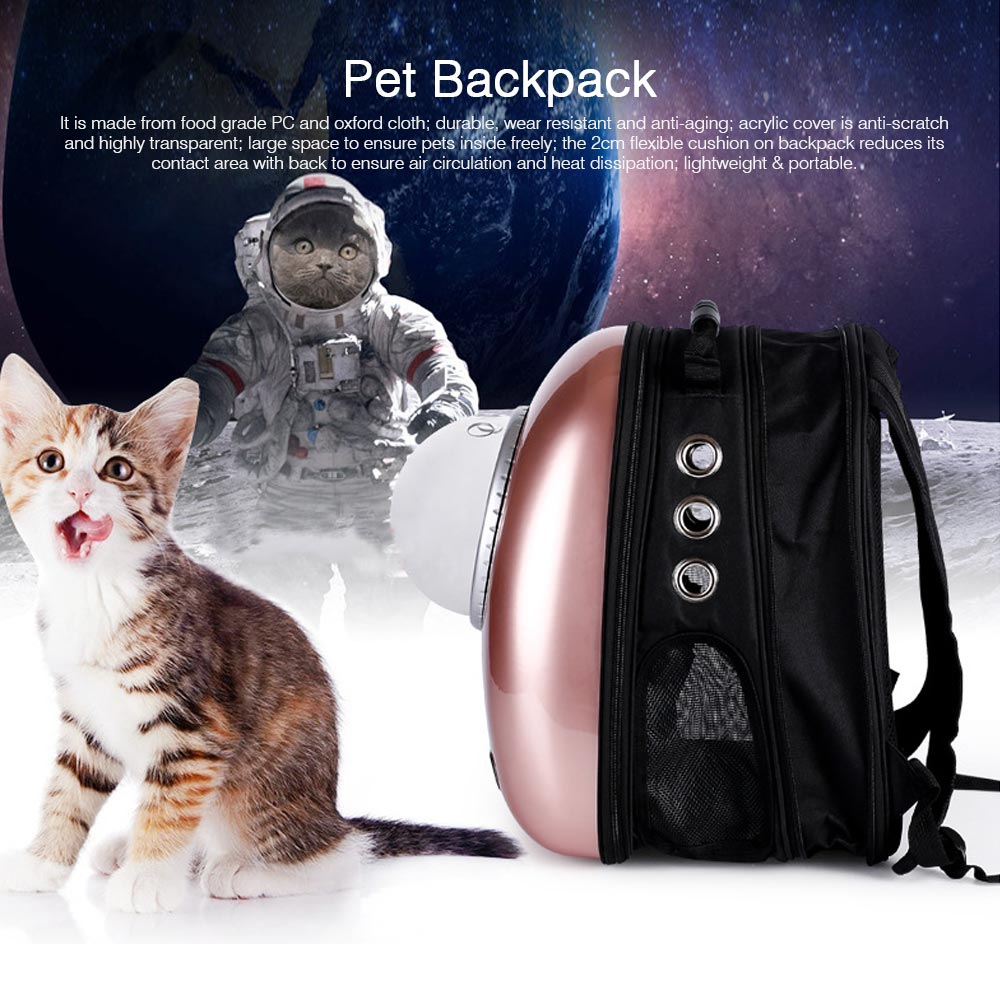 Fashionable Large Pet Backpack for Moderate and Small Size Dog and Cat, Portable Travel Pet Carrier Space Capsule Bubble Design 0