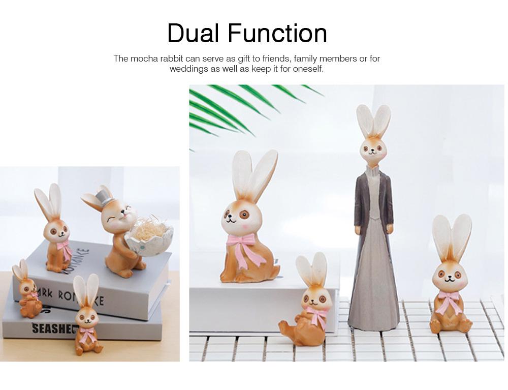 Mocha Rabbit Decorations for Home Creative Cartoon Resin-made Mocha Rabbit Lovely Decoration 4