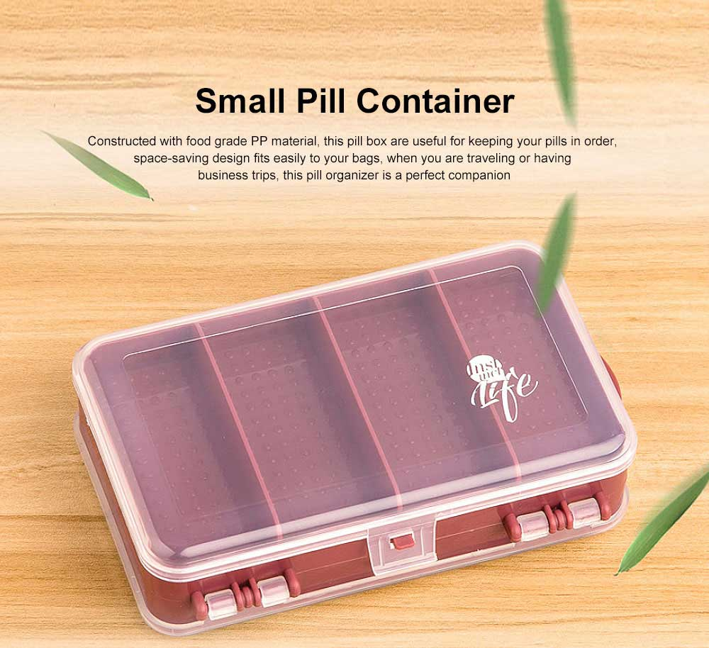 Pill Organizer Case Portable Box Small Container for Bag Travel Business Trip Excellent Weekly Pill Storage Case 0