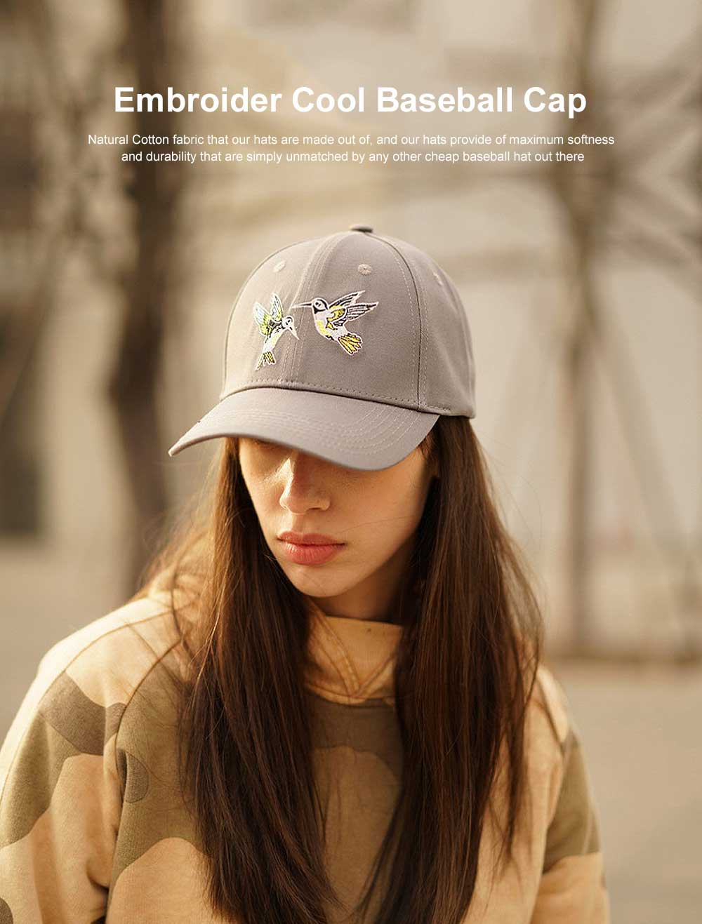 Embroider Hats Cool Baseball Cap Hip Hop Casquette with Adjustable Buckle Cotton Polo Style Plain Caps 0
