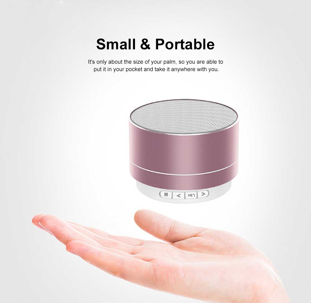 Metal Blue-tooth Sound Box, Subwoofer Mini Sound Box, Support TF Card Bluetooth Speaker 4