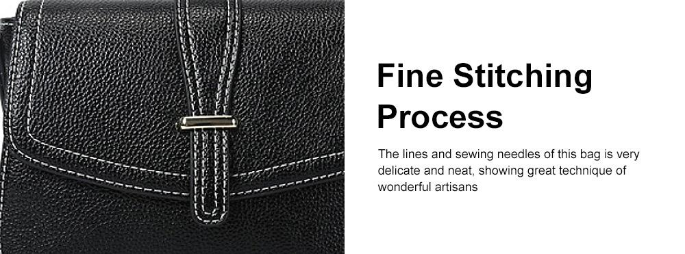 Stylish Women Shoulder Bag Compact PU Messenger Bag with Metal Buckle Spacious Storage Space 4
