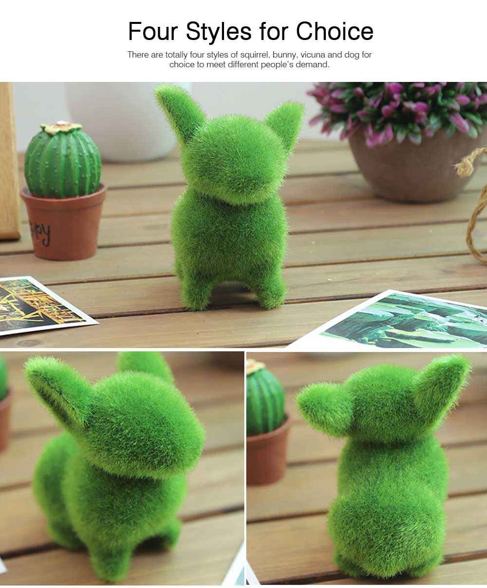 Simulated-grass-made Animal Decorations for Wedding Desktop Creative Animal Decorations for Party Animal Decorations Safari Party Supplies 6