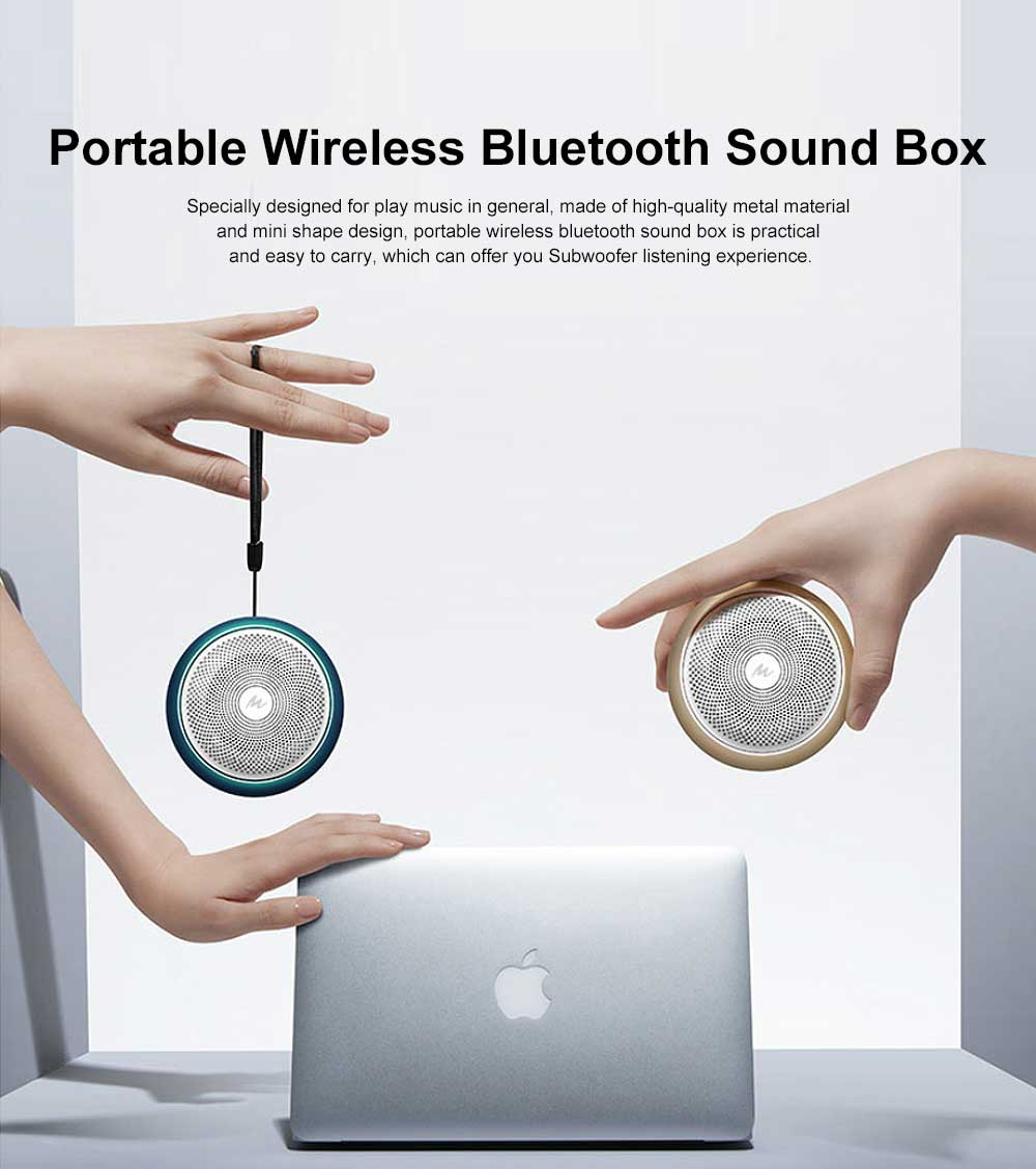 Bluetooth Subwoofer Household Mini Sound Box, Portable Wireless Bluetooth Speaker Sound Box Support TF Card AUX MP3 Wav APE Flac 0