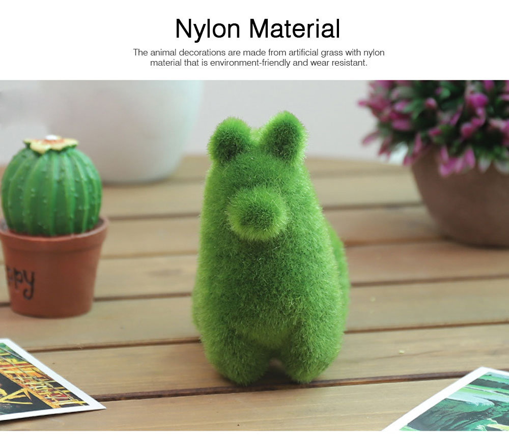 Simulated-grass-made Animal Decorations for Wedding Desktop Creative Animal Decorations for Party Animal Decorations Safari Party Supplies 1