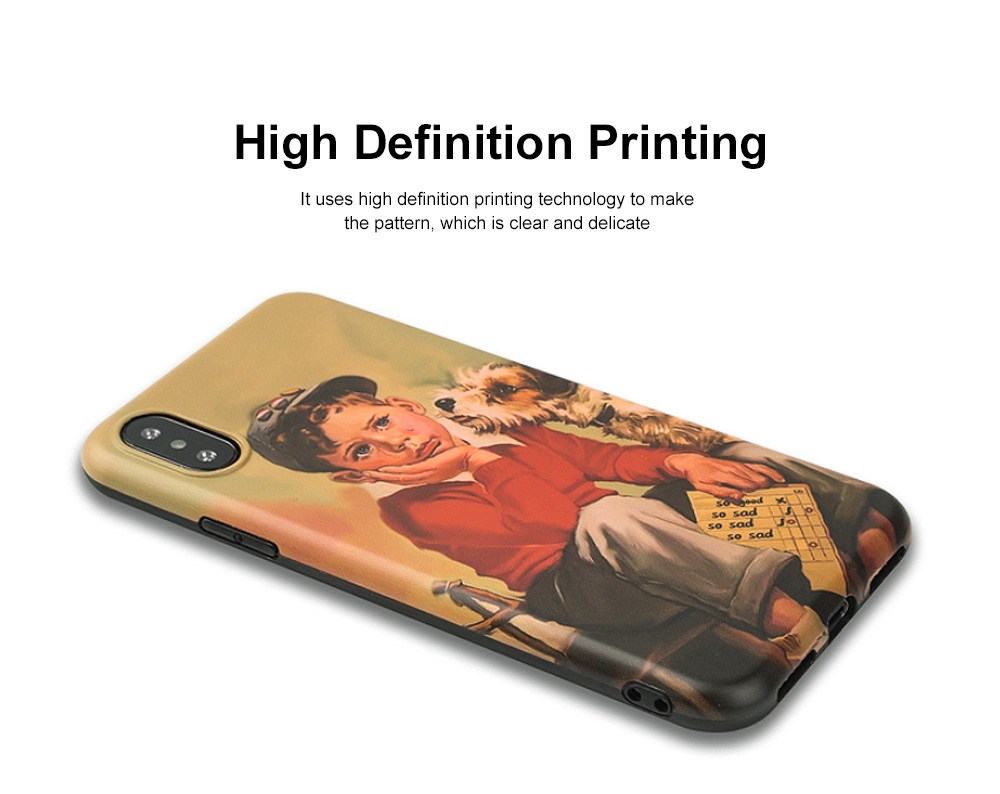 Shock Absorption Bumper Soft TPU Cover Case for iPhone 6/6s, 7p/8p, X/XS, XS Max, XR, Waterproof High Definition Printing Phone Case 1