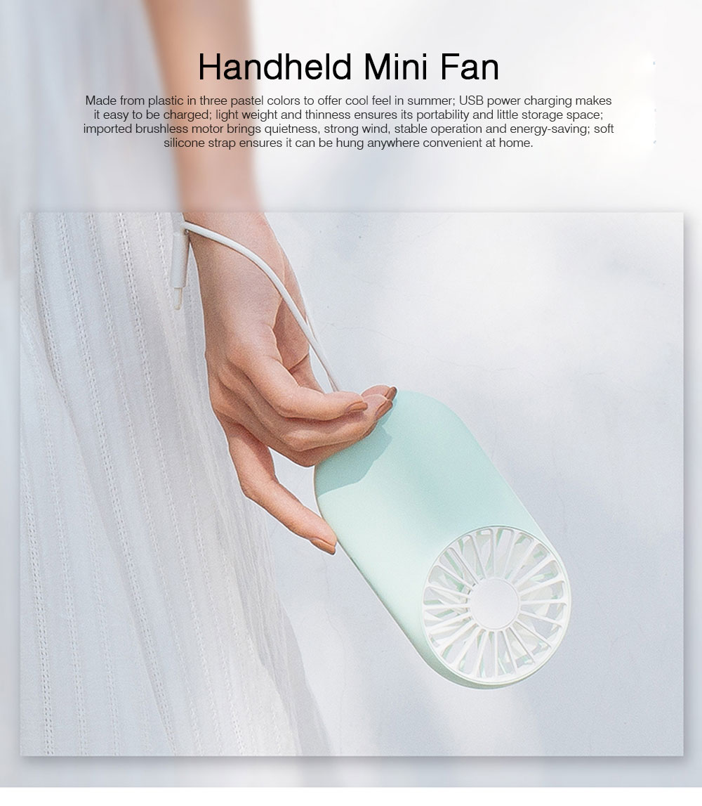 Handheld Students Quiet Mini Fan Portable Plug In with Lights Mini Fan Battery Operated 0