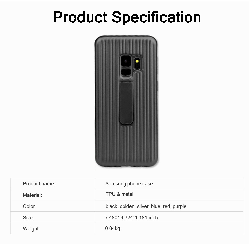 New-style Samsung Phone Case for Galaxy S9 & S9 Plus Vehicle-Mounted Protective Case Vertical Support Phone Case 9