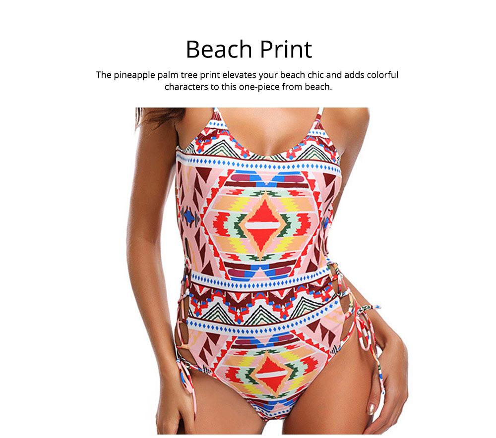 Backless Sexy Swimsuit One-piece Cutout Sexy Bikini Skin-friendly and Comfortable Swimwear 4