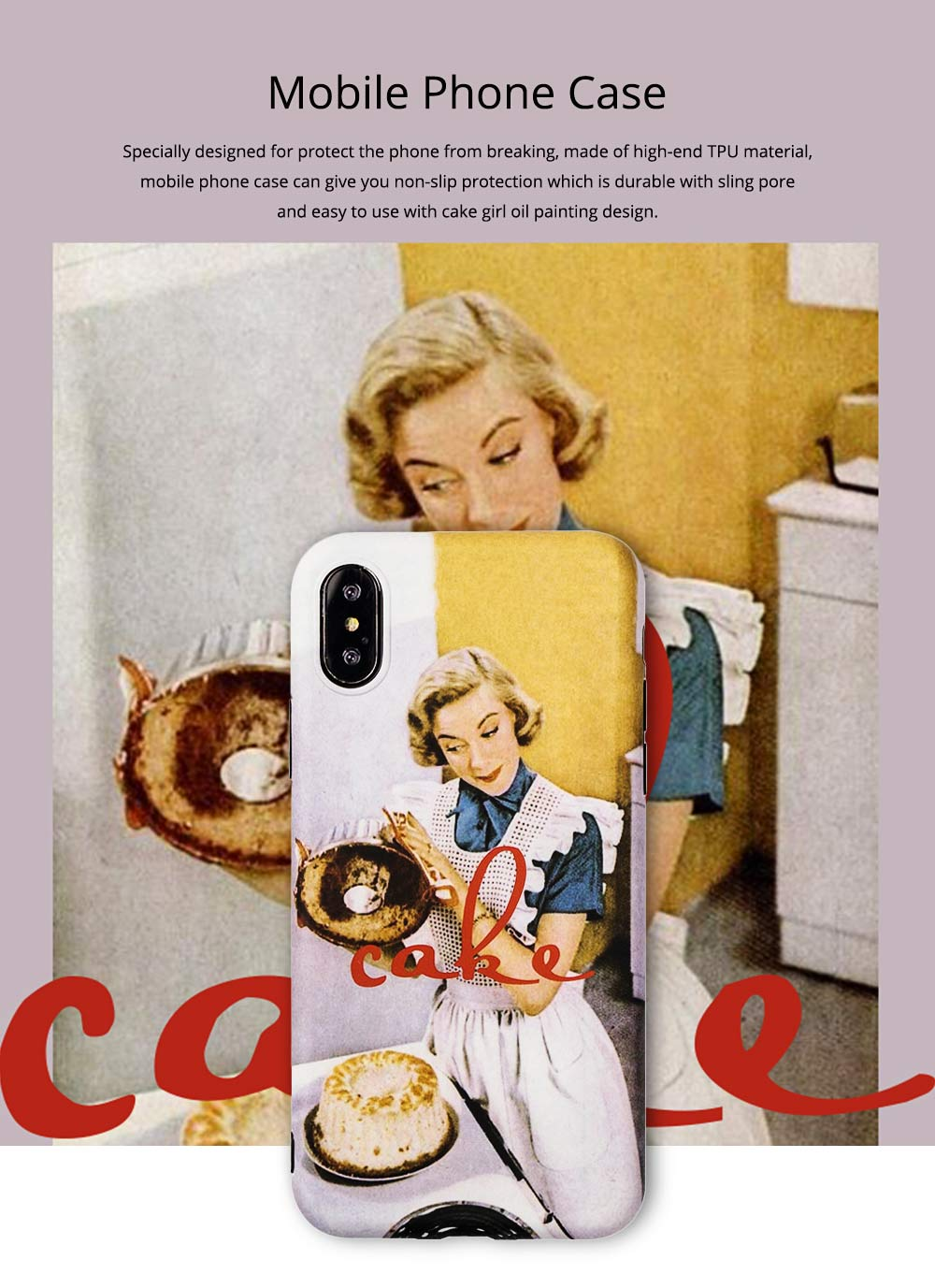 Oil Painting iPhone Case for 6/6s, 6p/6sp, 7p/8p, X/XS, XR 0