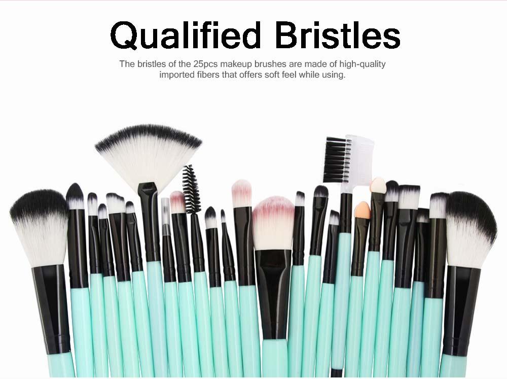 25 PCS Complete Makeup Brushes Set, Professional Beauty Makeup Brushes Hot Selling Makeup Tool 1