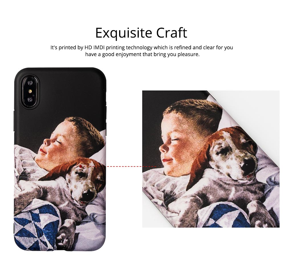 Mobile Phone Case with Retro Boy Dog Pattern for iPhone 6s/6sp, 7p/8p, XS/XR, Precise Audio Charging Hole Location Phone Shell 2