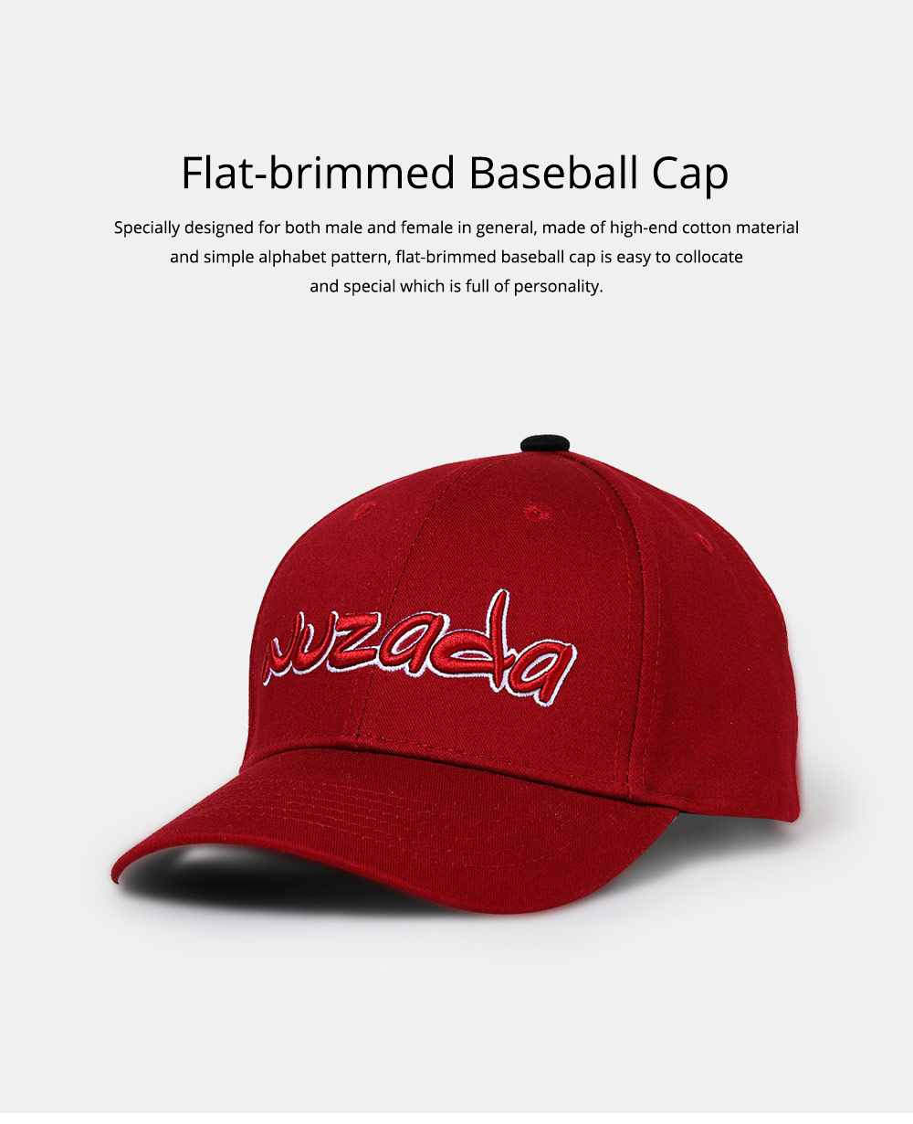 Baseball Cap with Alphabet, Fashion Flat-brimmed Hip-hop Hat, Sports Cap for Man and Woman 0