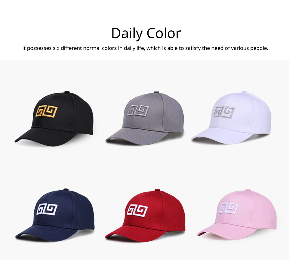 Woman's Cotton Peaked Cap for Spring & Summer, Korean Style Embroidered Man's Baseball Cap 8