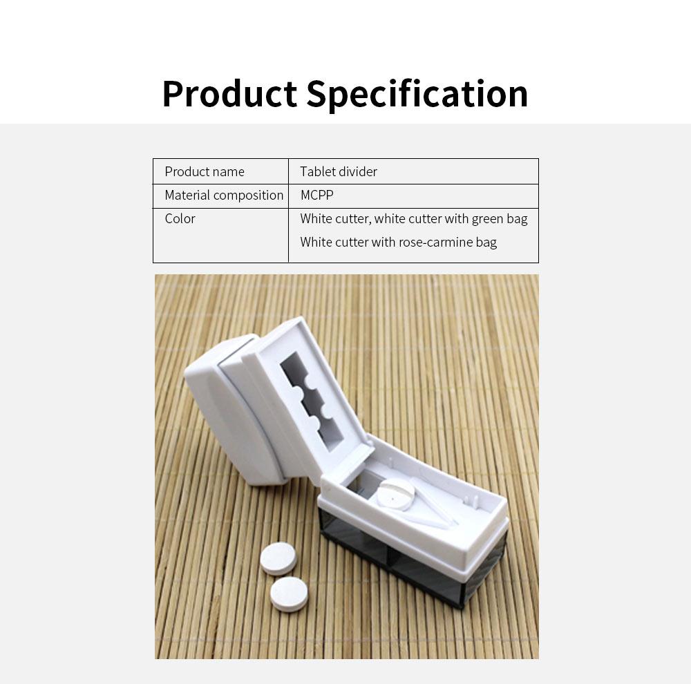 Stamper Shape Pill Cutter Box for Children Elderly, Sharp Stainless Steel V-shape Medicine Cutter Splitter 5