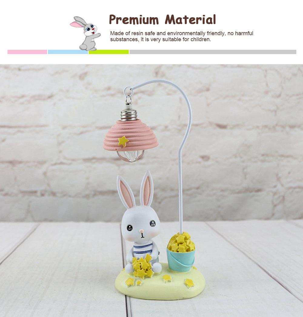Cartoon Rabbit Night Light Resin Mini LED Night Lamp Home Decoration Creative Resin Ornaments 3