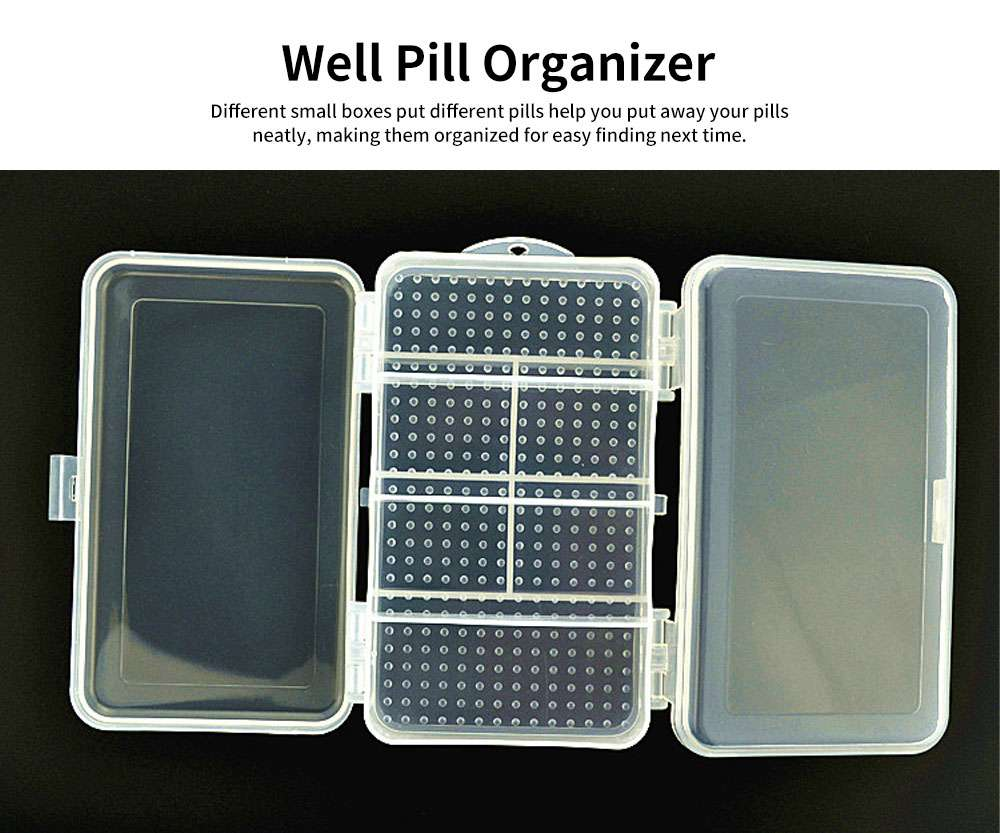 10 Slots Transparent Weekly Pill Box, Safe PP Plastic Storage Box Portable Pill Organizer Case for Travel Home Use 3