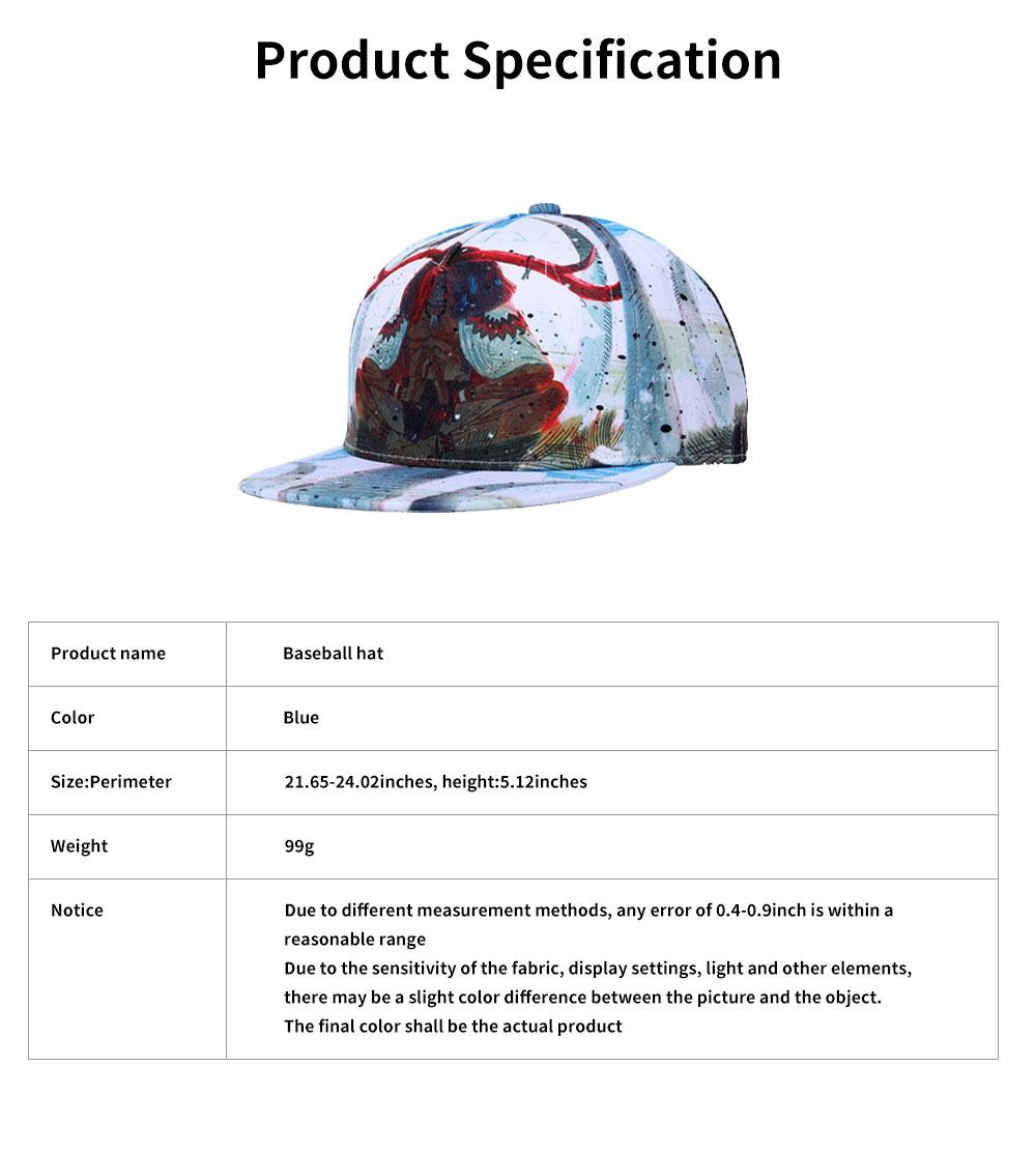 Unisex Hats Creative Graffiti Snapback Flat Bill Hip Hop Hats Casual Baseball Caps for Dancing Women Men Best Gifts 6