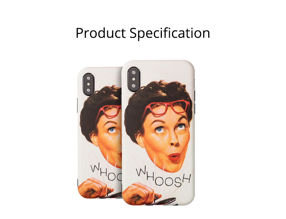 Vintage French WHOOSH Pattern Phone Case for iPhone 6/6s, 6p/6sp, 7p/8p, X/XS, XR 9