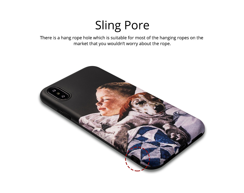 Mobile Phone Case with Retro Boy Dog Pattern for iPhone 6s/6sp, 7p/8p, XS/XR, Precise Audio Charging Hole Location Phone Shell 4