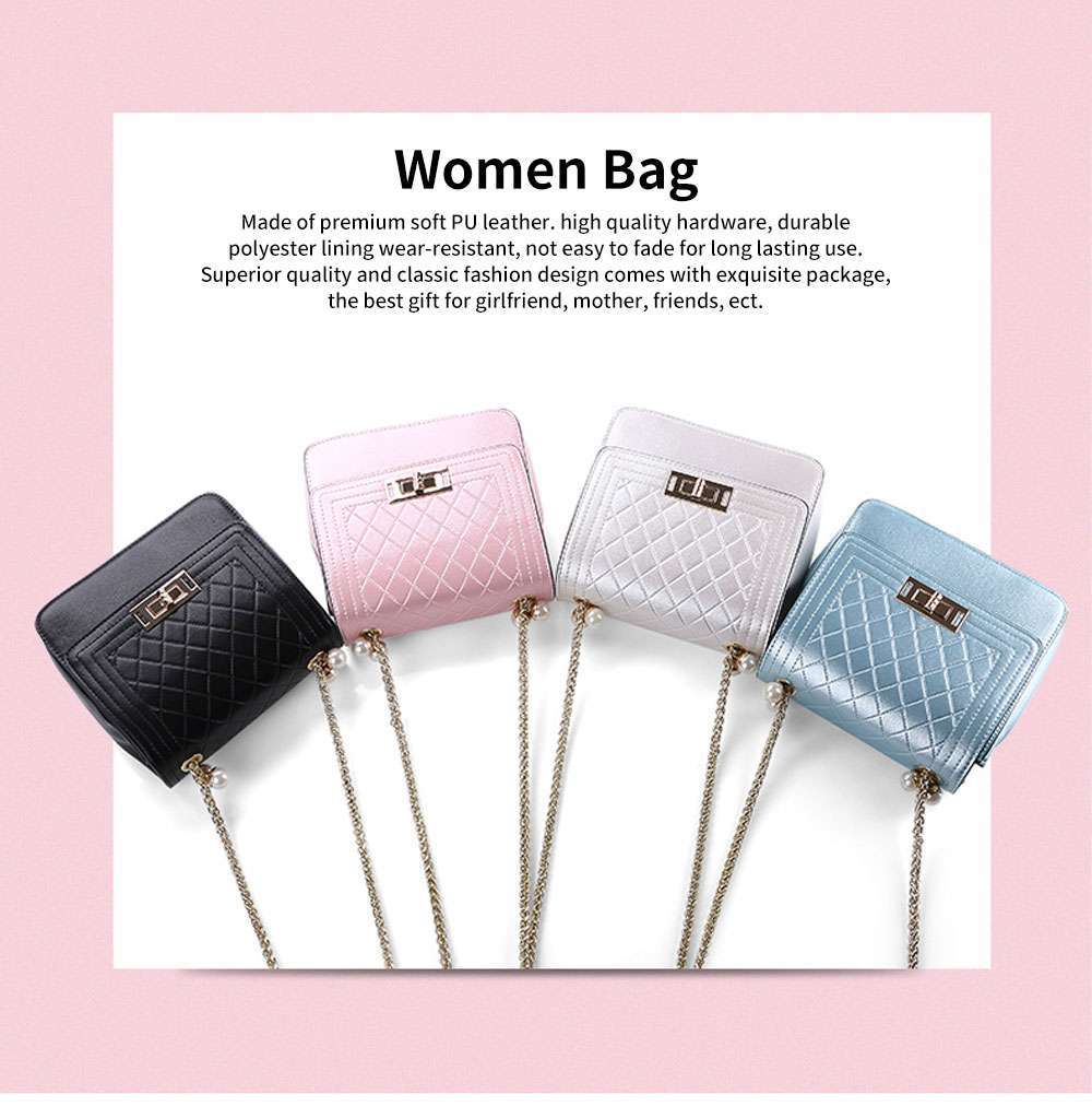 2019 Fashion Female PU Handbag Packets Shoulder Bag Crossbody Chain Small Square Tote Bag for Women Youth Lady Girl 0