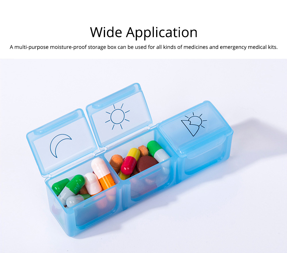 7 Day 21 Slot Weekly Pill Box Medicine Tablet Holder Dispenser, Weekly AM/PM Pill Organizer Box with Snap Lids 5