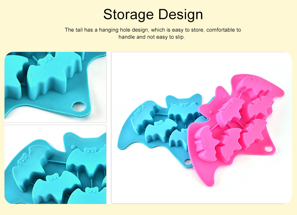 Creative Bat Ice Cube Silicone Iced Pudding Jelly Mould Bat Chocolate Mould Freeze Molding 3