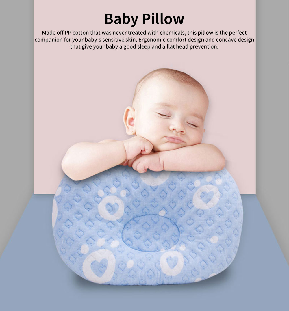 Newborn Baby Head Shaping Pillow Breathable Organic PP Cotton Baby Accessories Flat Head Syndrome Prevention and Head Support Pillow 0